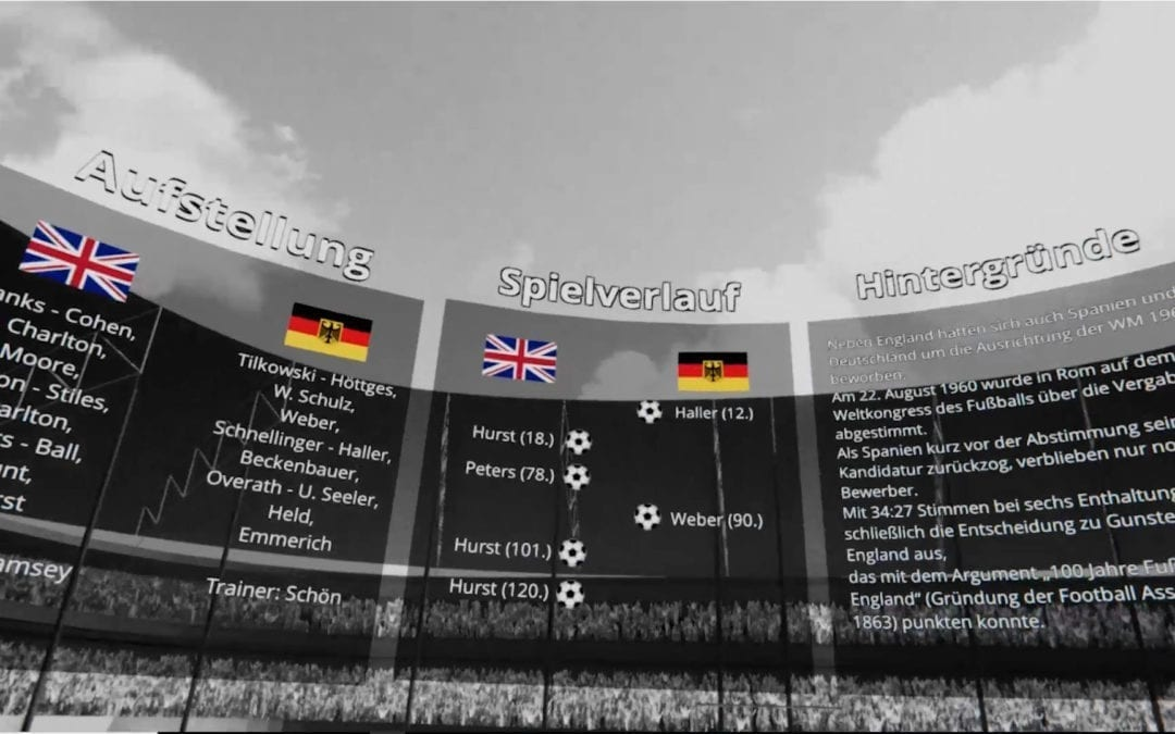 Experience football history interactively with kicker's VR app!