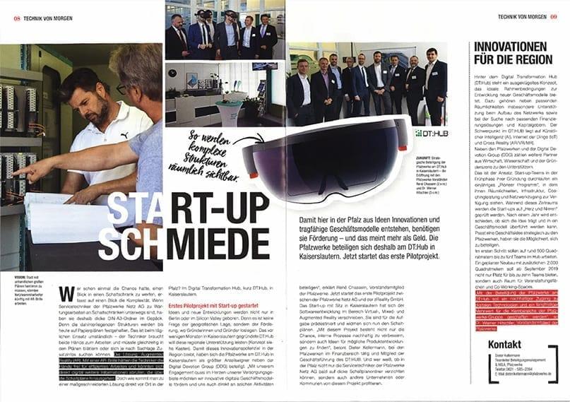 Technik von Morgen – Unser Projekt im Pfalzwerke Kundenmagazin