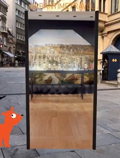 AR Portal, das Sie direkt ins Museum führt