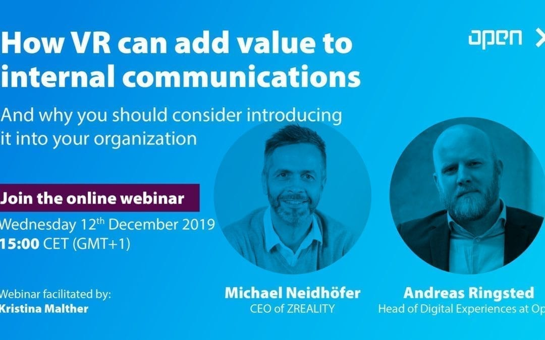 What can VR do as a channel for internal communications – and why you should consider introducing it into your organization