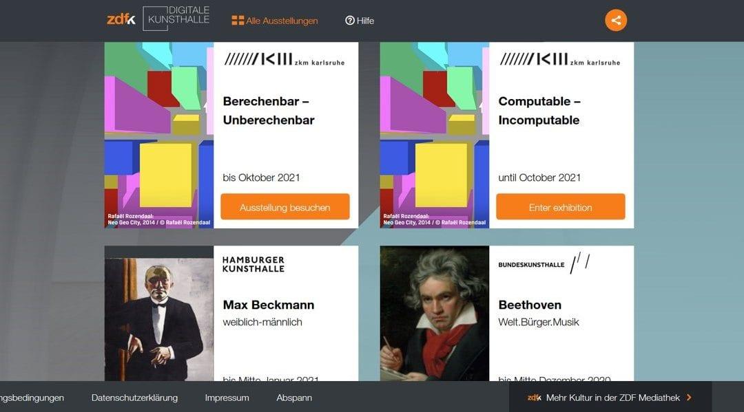 """12 exhibitions in the """"Digital Kunsthalle"""" in 2020 – the latest from the Zentrum für Kunst und Medien Karlsruhe (ZKM)"""