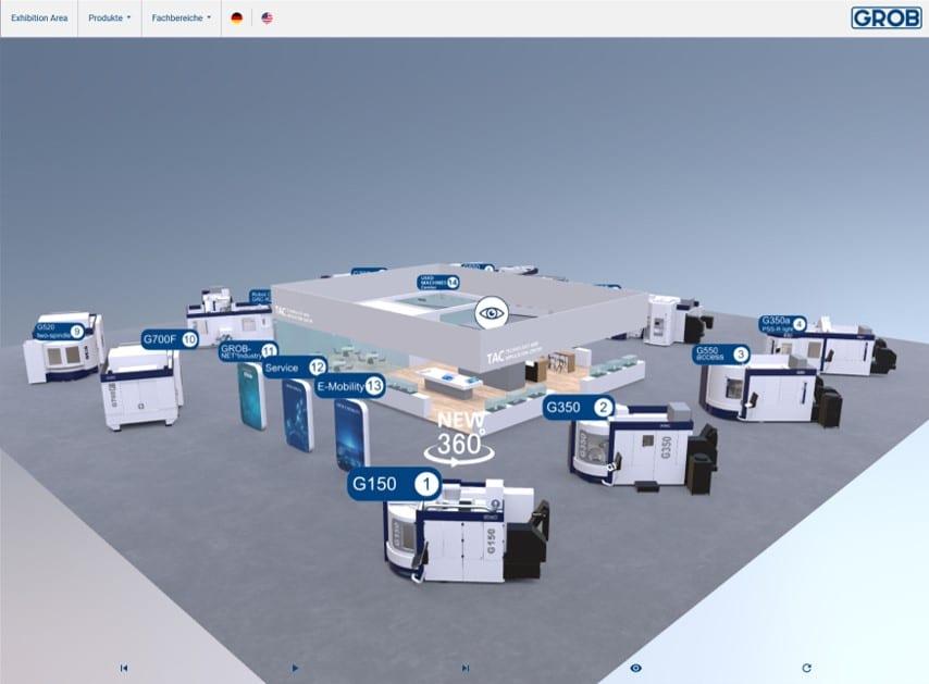GROB-Werke – Virtual Event – Web 3D | VR