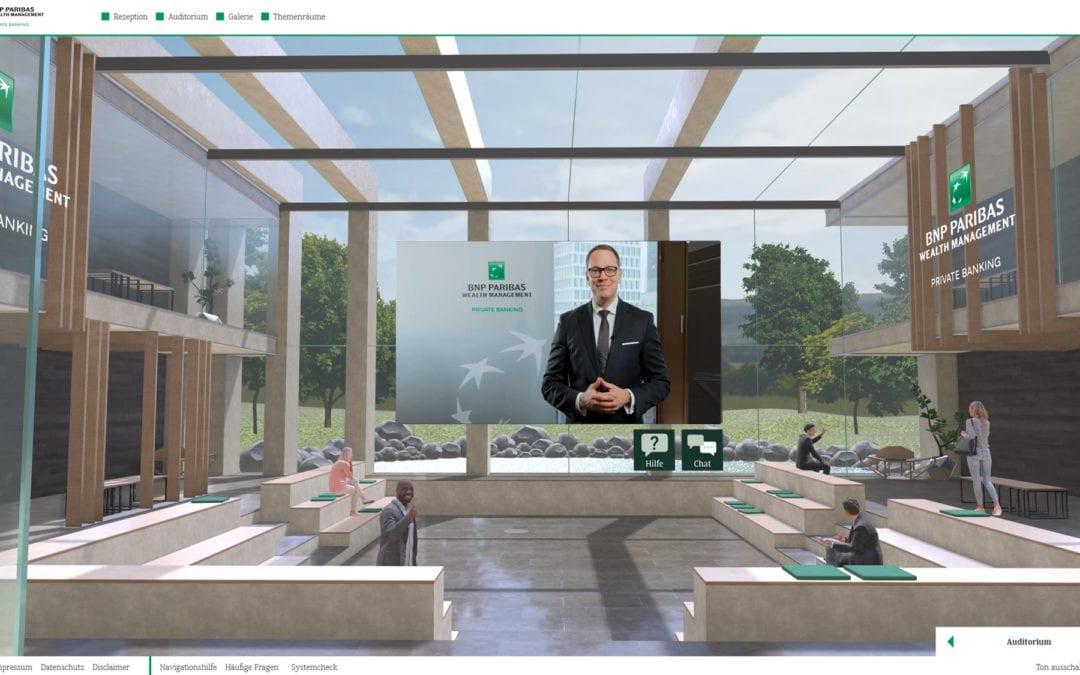 BNP Paribas – Virtual Event – Web 3D | VR