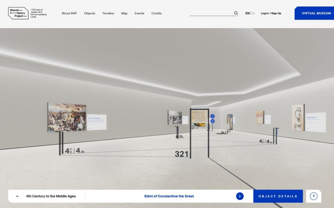 Leo Beck Institute – Virtuelles Museum – Web 3D | VR  | AR
